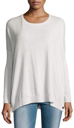 Joan Vass Petite Long-Sleeve Wool-Cashmere Tunic
