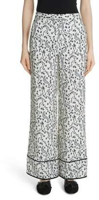 Yigal Azrouel Floral Print Wide Leg Pants