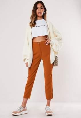 Missguided Petite Rust Cigarette Pants