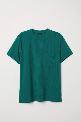 H&M Jacquard-knit T-shirt - Green