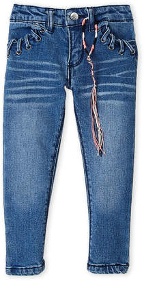 DKNY Girls 4-6x) Whipstitching Ankle Jeans