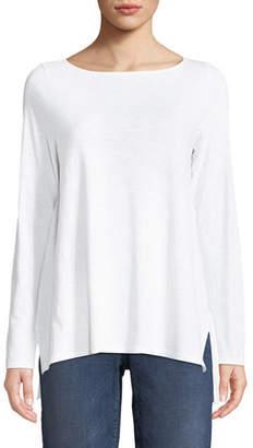 Eileen Fisher Slubby Organic Cotton Top, Plus Size