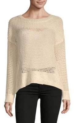 J.o.a. Perforated Long-Sleeve Top
