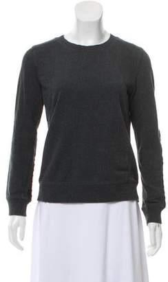 Vince Scoop Neck Textured Sweatshirt
