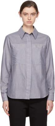 Acne Studios Blue and White Liur Stripe Shirt
