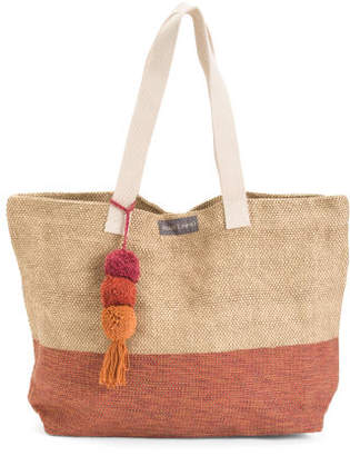 Color Block Dhurrie Tote