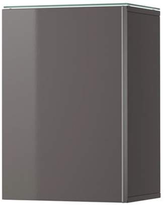 Ikea Wall cabinet with 1 door, high gloss gray 828.11214.1018