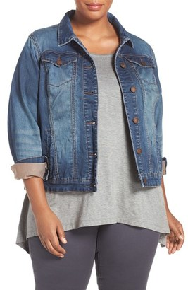 ADDITION ELLE LOVE AND LEGEND 'Joggy' Denim Jacket $98 thestylecure.com