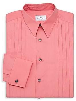 Salvatore Ferragamo Men's Pintuck Tuxedo Shirt