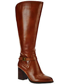 Franco Sarto Leather Wide Calf Tall Shaft Boots- Arlette