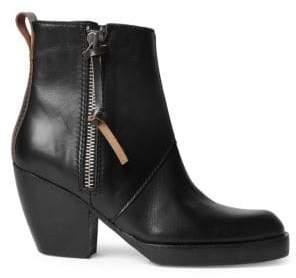 Acne Studios Leather Side Zip Booties