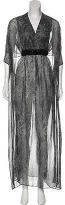 Michael Kors Embellishment-Accented Printed Dress