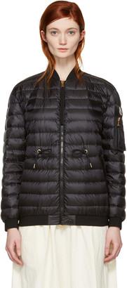 Moncler Black Down Gauffre Jacket $1,050 thestylecure.com