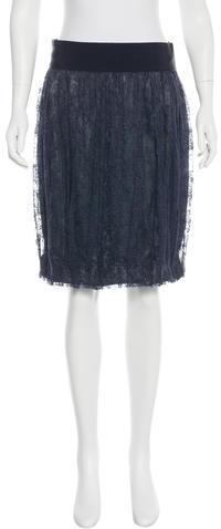 Alberta FerrettiAlberta Ferretti Lace Knee-Length Skirt