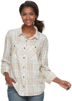 Columbia Women's Wildscape Flannel Plaid Roll-Tab Shirt