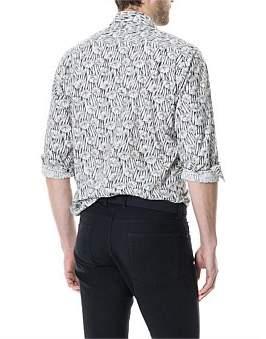 Rodd & Gunn Harwood Hole Long Sleeve Shirt Natural