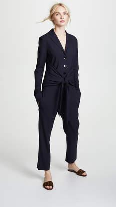 Victoria Beckham Victoria Tie Waist Jumpsuit