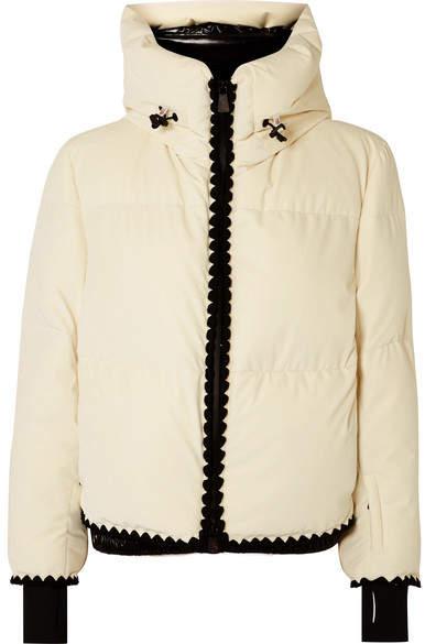 Emet Quilted Velvet Down Jacket - White