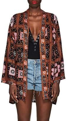 Saylor Natalie Martin Women's Tile-Print Kimono Jacket