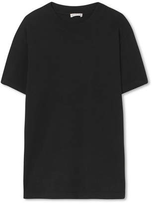 Balenciaga Appliqued Cotton-jersey T-shirt - Black