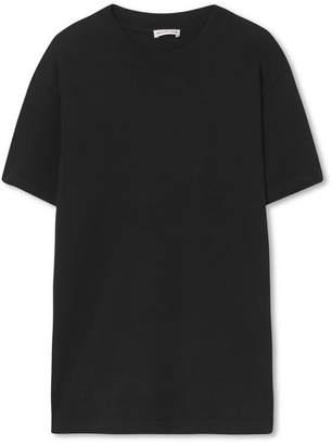 Balenciaga Appliqued Cotton-jersey T-shirt - Black