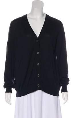 Maison Margiela Silk-Paneled Knit Cardigan
