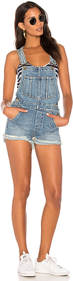 Joe's Jeans X Taylor Hill The Short Overalls $198 thestylecure.com
