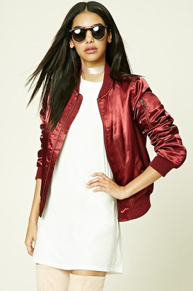 FOREVER 21+ Satin Bomber Jacket $24.90 thestylecure.com