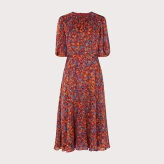 LK Bennett Souli Rust Silk Dress