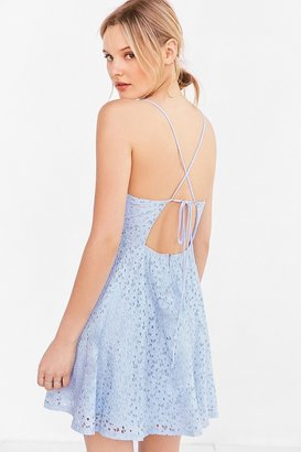 Kimchi Blue Lace Strappy-Back Fit + Flare Dress $79 thestylecure.com