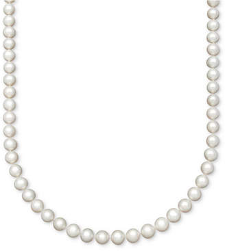 """Belle de Mer Pearl AA+ 16"""" Cultured Freshwater Pearl Strand (8-1/2-9-1/2mm) Necklace in 14k Gold"""