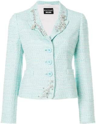 Moschino embellished tweed blazer