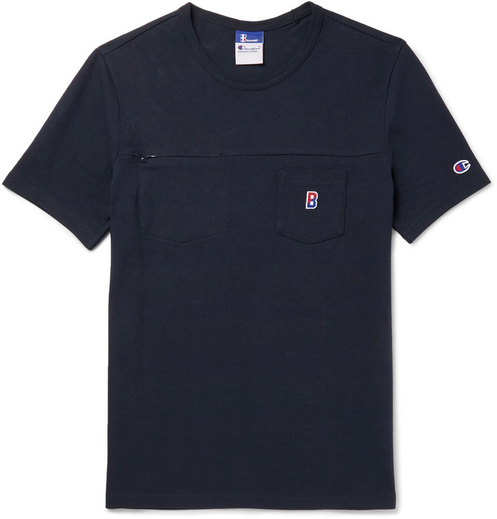Beams + Champion Slim-Fit Cotton-Jersey T-Shirt