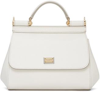 Dolce & Gabbana White Mini Miss Sicily Bag $1,295 thestylecure.com