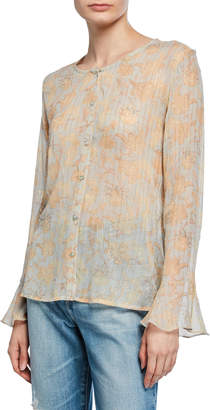 Raga Whispered Dreams Button-Down Blouse