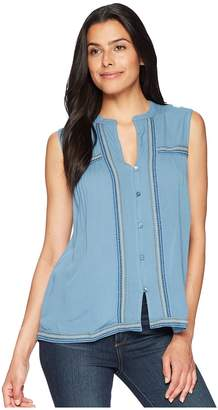 Lucky Brand Embroidered Tank Top Women's Clothing