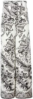 Etro printed wide leg trousers