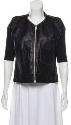 Rick Owens Zip-Accented Leather Jacket