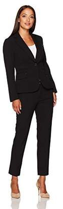 Tahari by Arthur S. Levine Women's Petite Size Bi Stretch Two Button Pant Suit