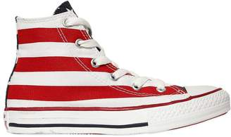 Converse American Flag Canvas High Top Sneakers