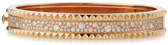 Roberto Coin ROCK & DIAMONDS Slim 18K Rose Gold Bangle, 1.49 tdcw