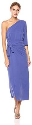 Mara Hoffman Women's Shirley One Shoulder Tie Front Midi Dress