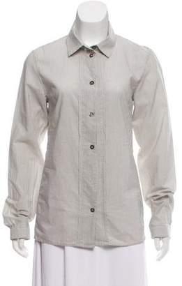 Ann Demeulemeester Striped Button-Up Top