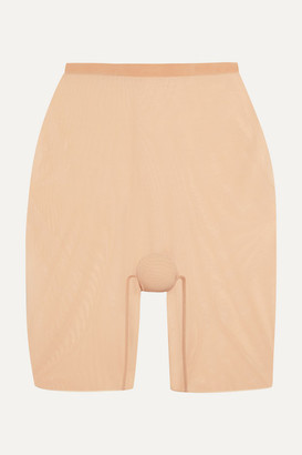 Wolford Stretch-tulle Shorts - Neutral