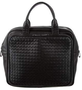 Bottega Veneta Intrecciato-Trimmed Top Handle Bag