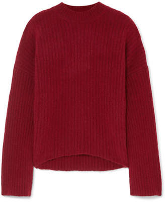 Petar Petrov Ribbed Cashmere-blend Sweater - Claret