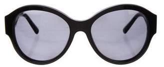 Versace Round Polarized Sunglasses