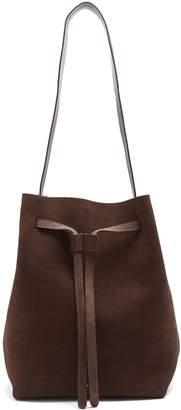 Mansur Gavriel Drawstring Hobo leather-lined suede bag