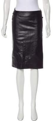 CNC Costume National Leather Knee-Length Skirt