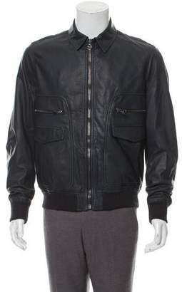 Salvatore Ferragamo Leather Utility Jacket